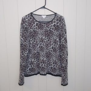 Investments Leopard Print Cashmere Sweater